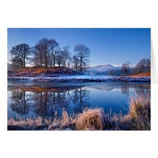 Cartão do Xmas do distrito do lago Brathay do rio