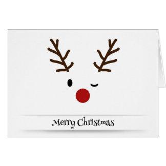 Cartão do Xmas do feriado do piscar os olhos da