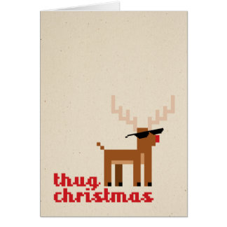 Cartão do Xmas do Natal dos cervos da vida do