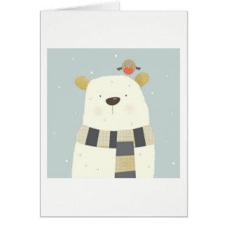 Cartão do Xmas do urso polar