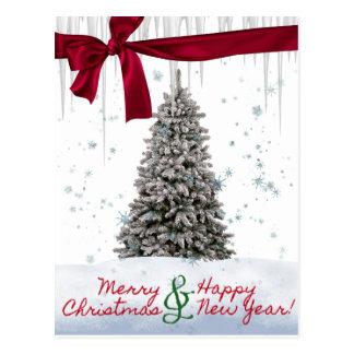 Cartão do Xmas e do feliz ano novo da feliz Cartão Postal