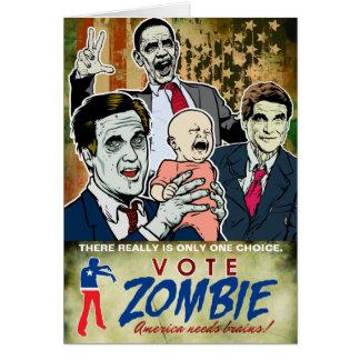 Cartão do zombi 2012 do voto