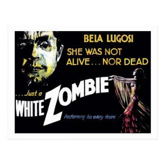 """""""Cartão do zombi branco"""" Cartão Postal"""