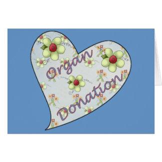 Cartão Doação de órgão