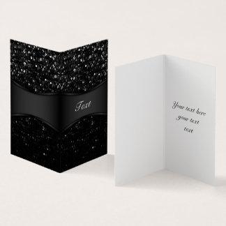 Cartão dobrado Bling de cristal Strass
