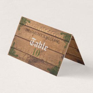 Cartão dobrado Claddagh rústico do lugar do
