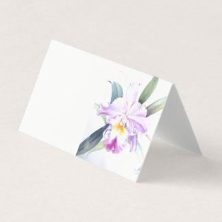 Cartão dobrado da barraca da íris dobra horizontal