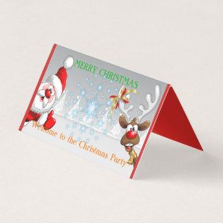 Cartão dobrado da barraca do Feliz Natal dobra