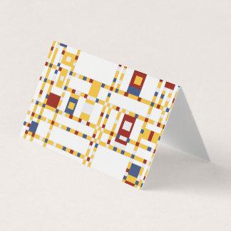 Cartão dobrado da barraca dobra horizontal feita