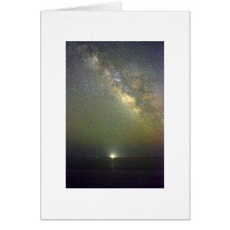 Cartão dobrado foto do céu nocturno