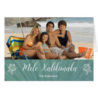 Cartão dobrado Kalikimaka de Mele
