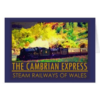 Cartão dobrado trem do vintage