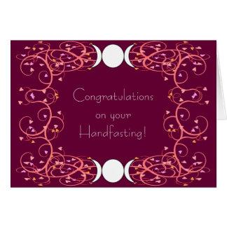 Cartão Dobro 3 em 1 Wiccan lésbica que Wedding Congrats