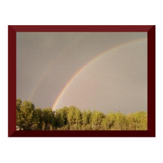 Cartão dobro do arco-íris