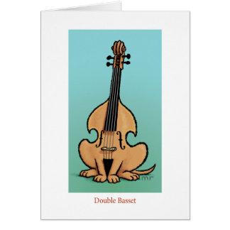 Cartão dobro do Basset