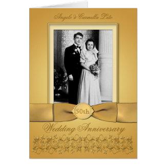 Cartão dobro do convite do aniversário da foto 50t