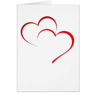 Cartão dobro do coração