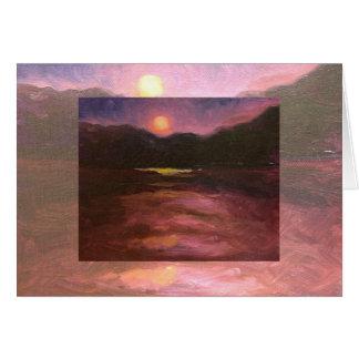 cartão dobro do moonrise