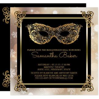 Cartão Doce 16 doce dezesseis Bokeh do mascarada | do