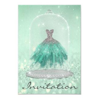 Cartão Doce 16o do vestido de TiffanyDiamond do verde da