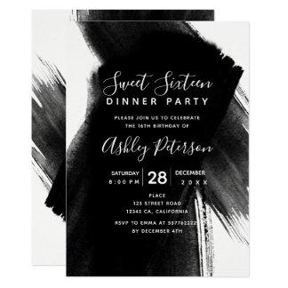 Cartão Doce branco preto 16 da tipografia dos