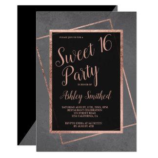 Cartão Doce cinzento 16 do quadro cor-de-rosa moderno do