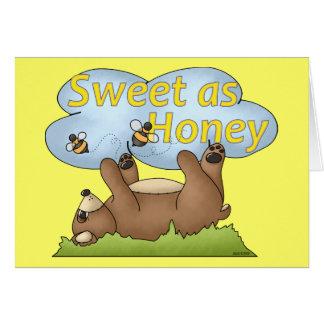 Cartão Doce como o urso de mel