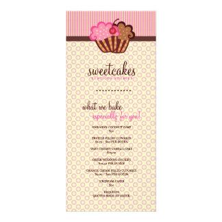 Cartão doce da cremalheira do cupcake de 311 bolos 10.16 x 22.86cm panfleto