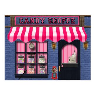 Cartão doce do deleite da loja dos doces