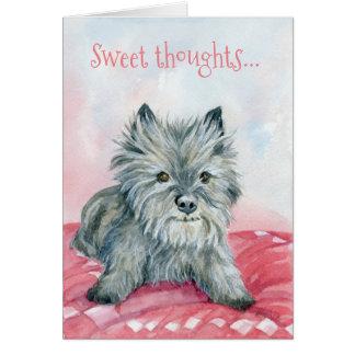 Cartão doce do monte de pedras dos pensamentos