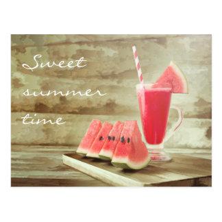 Cartão doce do verão
