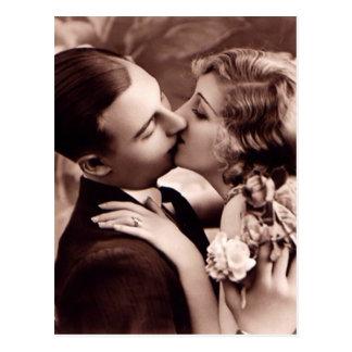 Cartão doce do vintage do casal
