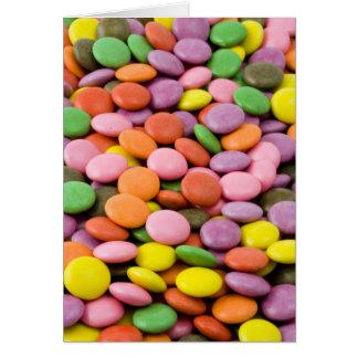 Cartão doce dos bombons