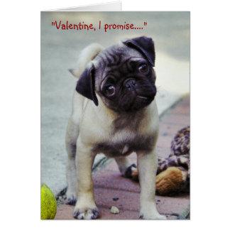 Cartão doce dos namorados #1 do filhote de cachorr