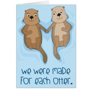 Cartão doce, engraçado do dia dos namorados para