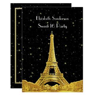 Cartão Doce estrelado 16 V da skyline #2 Bk de Paris