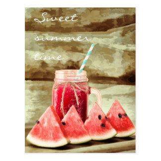 Cartão doces do verão da melancia