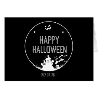 Cartão Doçura ou travessura feliz do Dia das Bruxas