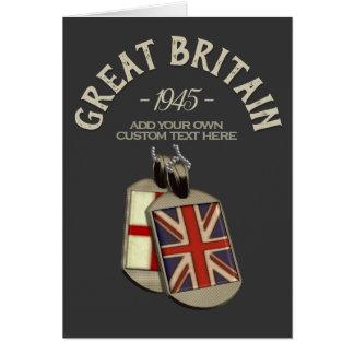 Cartão Dog tags inglês de Grâ Bretanha feito sob
