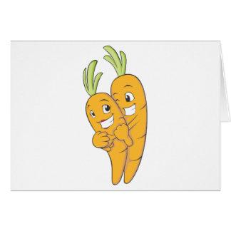 Cartão Dois amantes doces da cenoura