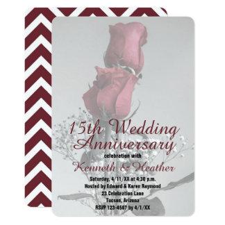 Cartão Dois aniversário de casamento da fotografia   dos