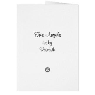Cartão Dois anjos