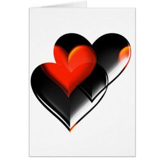 """Cartão """"Dois corações """" *"""
