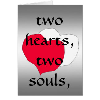 Cartão Dois corações