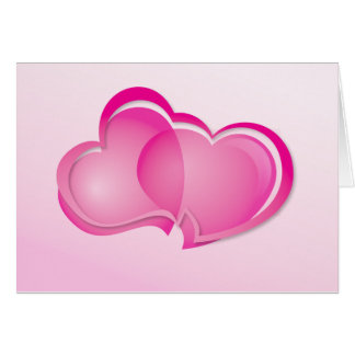 Cartão Dois corações de fluxo