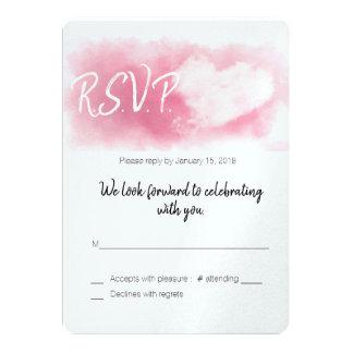 Cartão Dois corações/namorados Wedding/RSVP