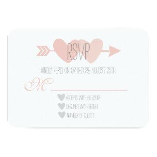 Cartão Dois corações RSVP