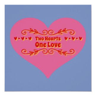 Cartão Dois corações um amor
