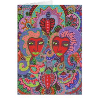 Cartão Dois dos corações 2