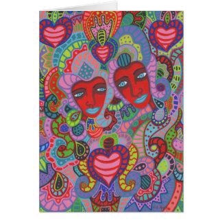 Cartão Dois dos corações 4